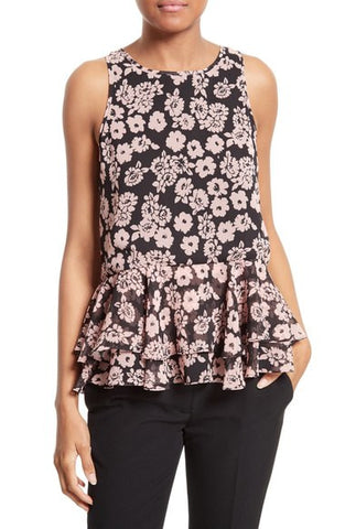Floral Print Flare Tank