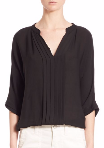 'Marru' Semi-Sheer Silk Blouse
