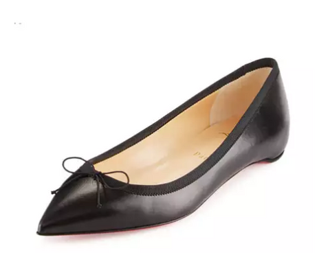 Solasofia Bow Red Sole Skimmer Flat