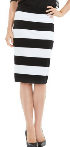 Cuban Stripe Tube Skirt