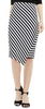 Havana Stripe Faux Wrap Tube Skirt