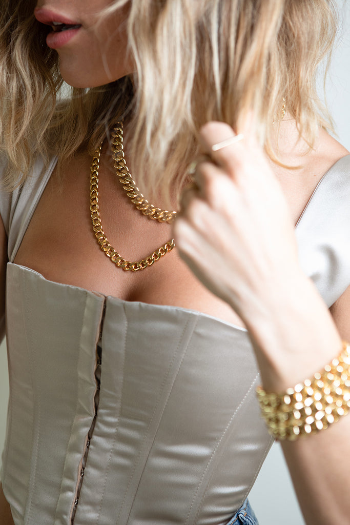 GOLD THICK CUBAN CHAIN - NECKLACE - BTL
