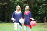 Tailgater Tunic - Navy & Red