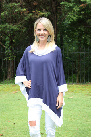 Tailgater Tunic - Navy & White