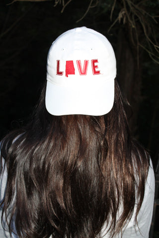 Love Your State Hat - Alabama White
