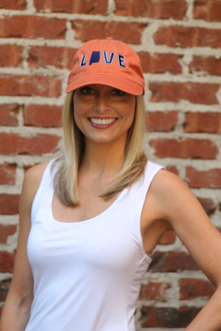 Love Your State Hat - Auburn Orange