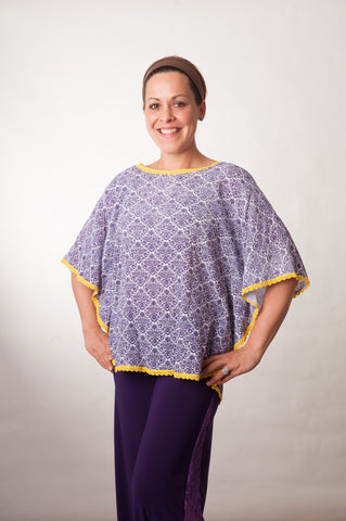 Gameday Poncho - Purple & Gold