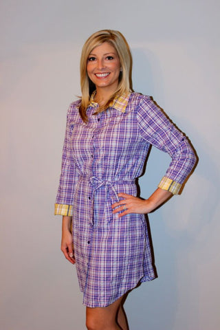 Line of Scrimmage Dress - Purple & Gold