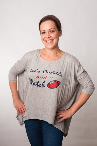Let's Cuddle Tee - Navy & Red