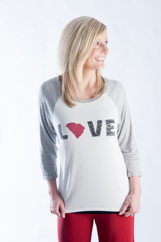 Love Your State Baseball Tee - S. Carolina