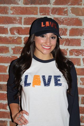 Love Your State Baseball Tee - Auburn