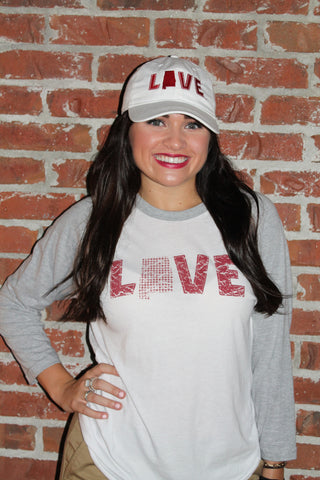 Love Your State Baseball Tee - Alabama