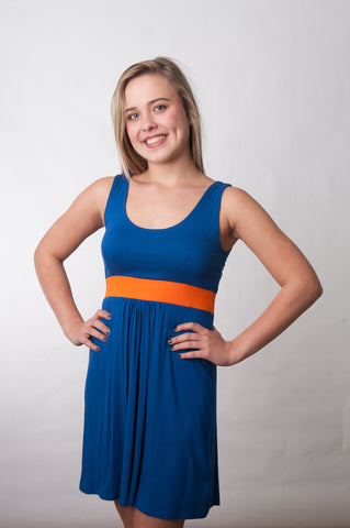 Signature Dress - Royal & Orange