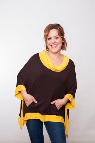 Tailgater Tunic - Brown & Gold