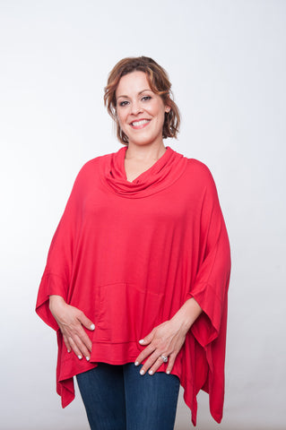 Tailgater Tunic - Solid Red