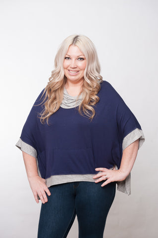 Tailgater Tunic - Navy & Grey