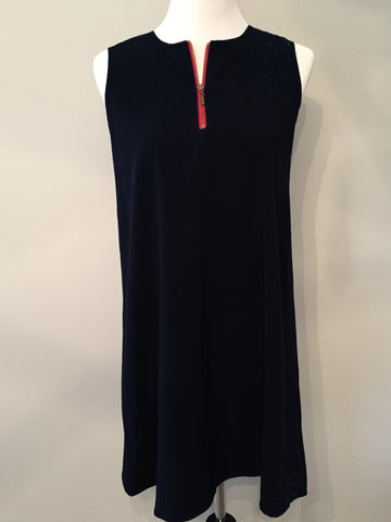 Zipper Dress - Red & Black