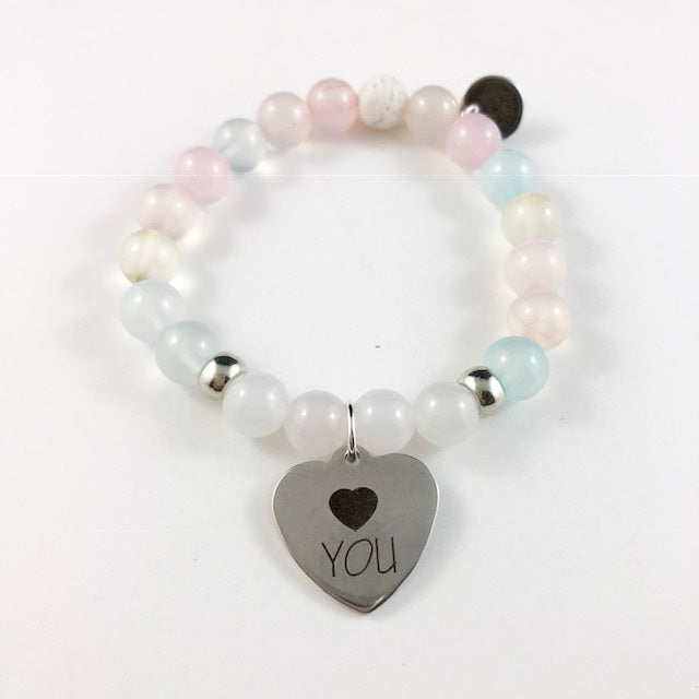 Conversational Heart Bracelet - Love You