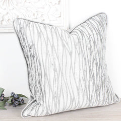 Linear Silver Cushion