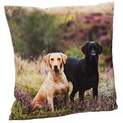 Labradors on the Moor Cushion