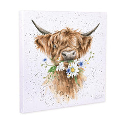 Wrendale Highland Cow Canvas Daisy Coo 50cm