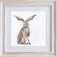 Wrendale Hare Picture Good Hare Day Framed Card