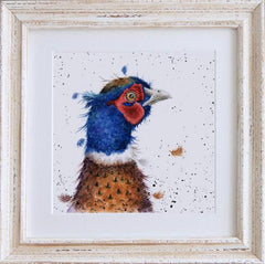 Wrendale Pheasant Picture Country Colours Framed Card