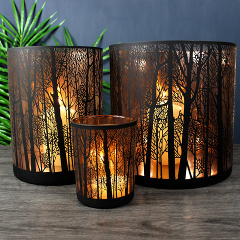 Copper Forest Candleholders
