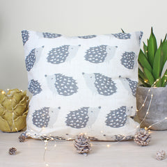 Hulder Hedgehog Repeat Grey Cushion