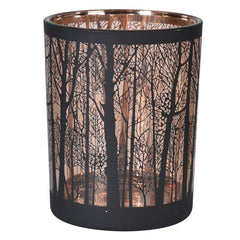 Small Copper Forest Candleholder