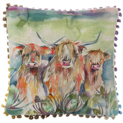 Heilan Herd Highland Cow Voyage Maison Cushion Mini Arthouse