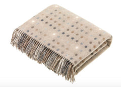 Bronte by Moon Multispot Lambswool Throw in Natural