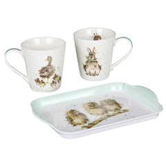 Rabbit and Duck Mug & Tray Set - Wrendale Designs