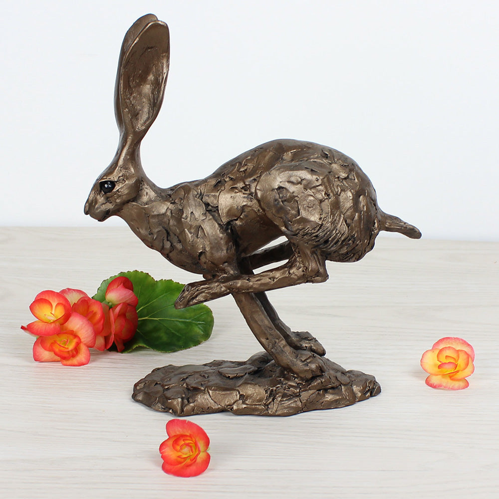 Hurricane Running Hare Frith Bronze Sculpture by Paul Jenkins