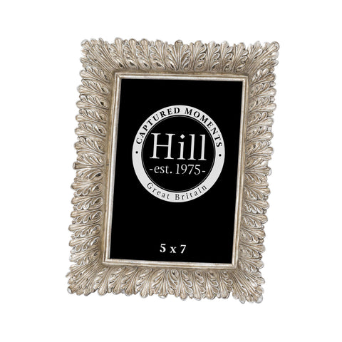 "5x7"" Antiqued Feather Effect Style Photo Frame"