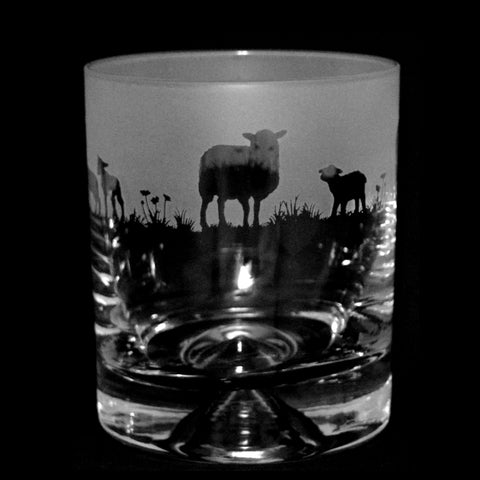 Sheep Whisky Glass Tumbler