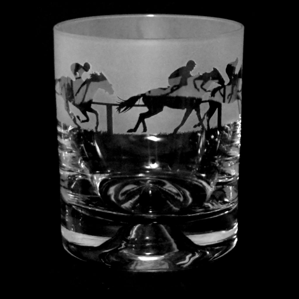 At The Races Racehorse Glass Tumbler