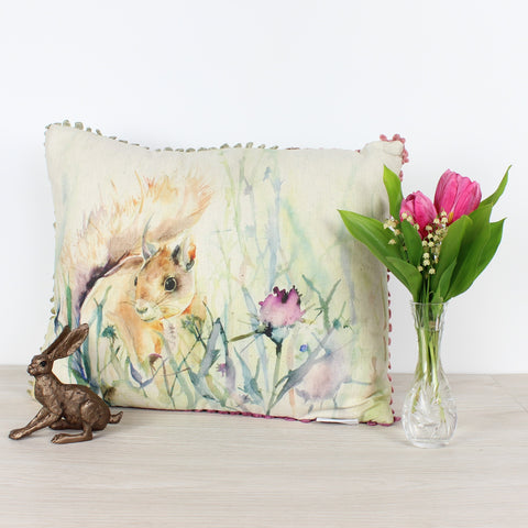 Winter Harvest Squirrel Voyage Maison Cushion