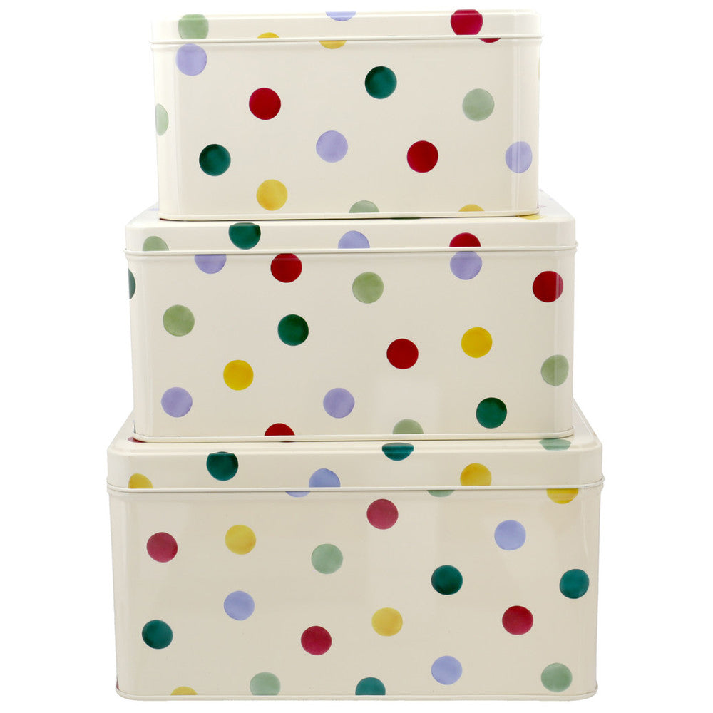 Polka Dot Set of 3 Square Cake Tins - Emma Bridgewater
