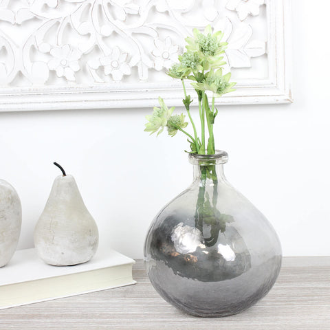 Dali Bottle Glass Vase in Grey Fade