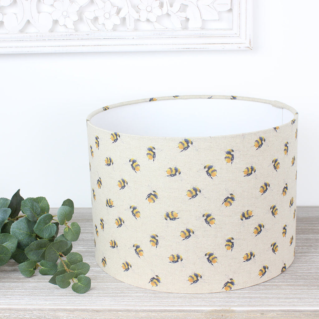 Bumble Bee Print Drum Lampshade