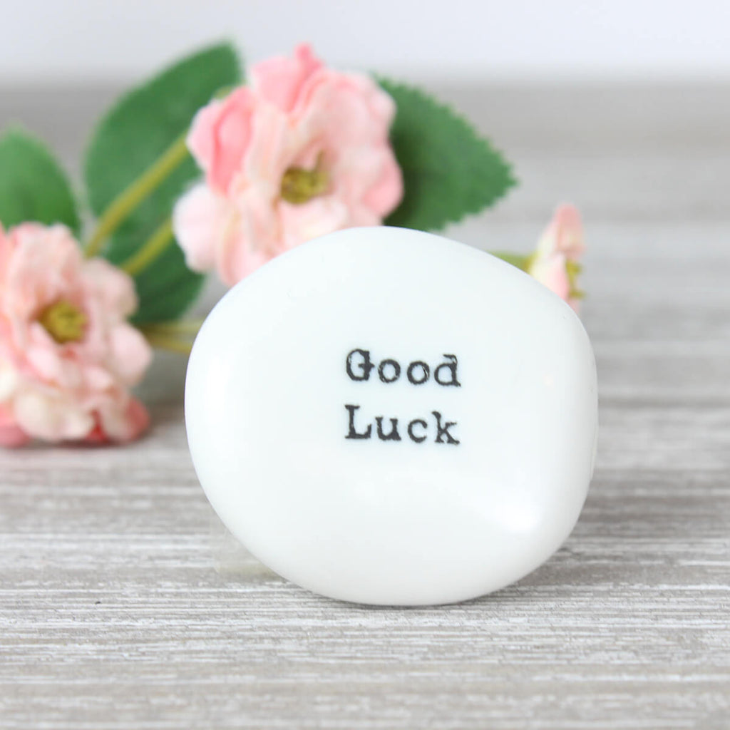 East Of India Good Luck Sentimental Pebble