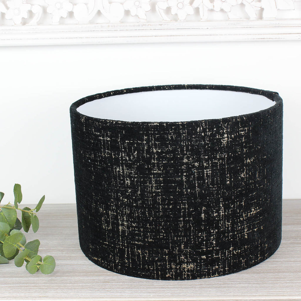 Graphite Zonda Drum Lampshade