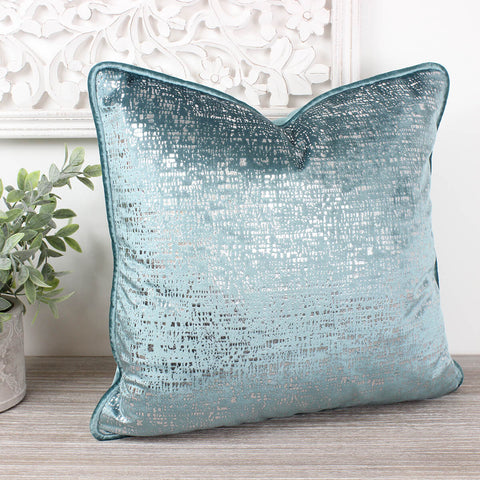 Zinc Duck Egg Velvet Cushion