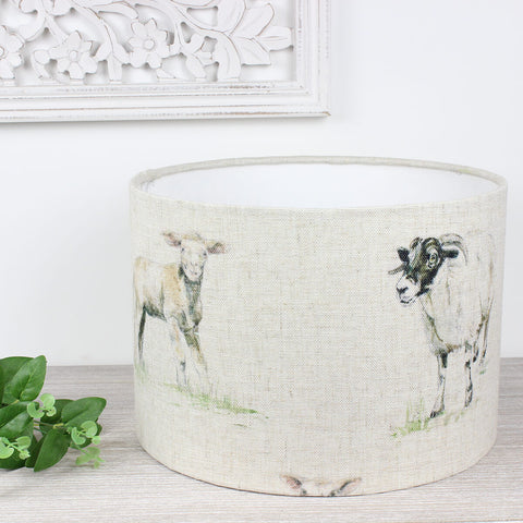 Sheep Countryside Linen Lampshade