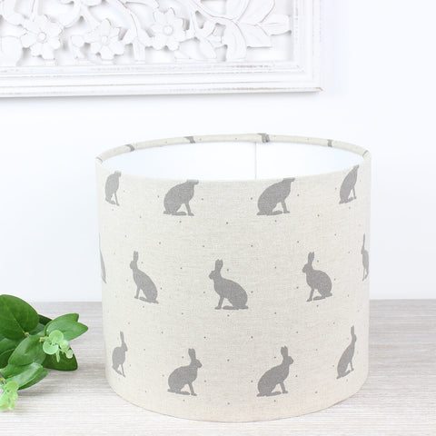 Grey Hare Drum Lampshade