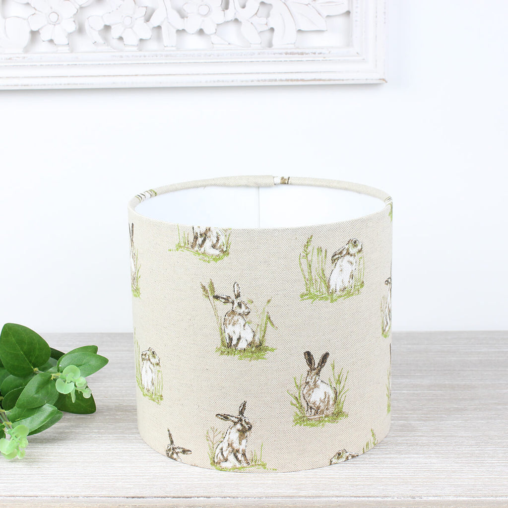 Hares Country Drum Lampshade Lightshade