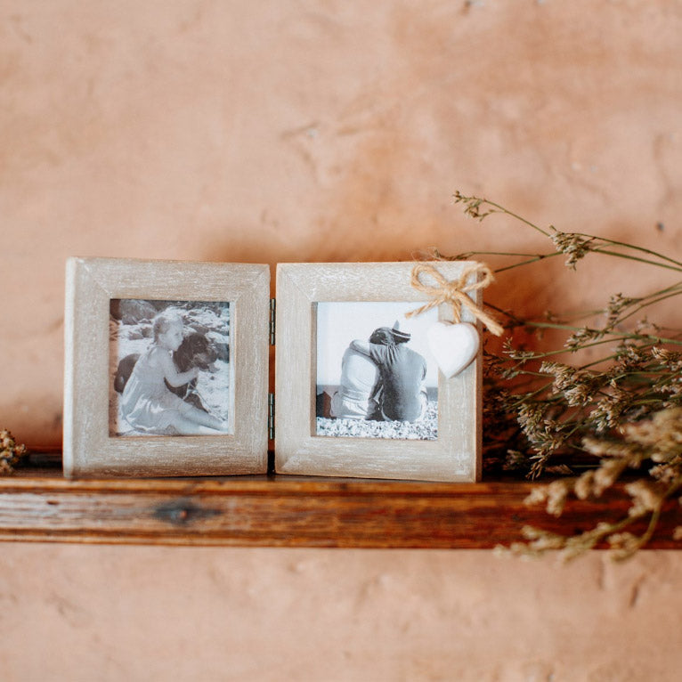 Ashley Farmhouse Mini Double Photo Frame Square