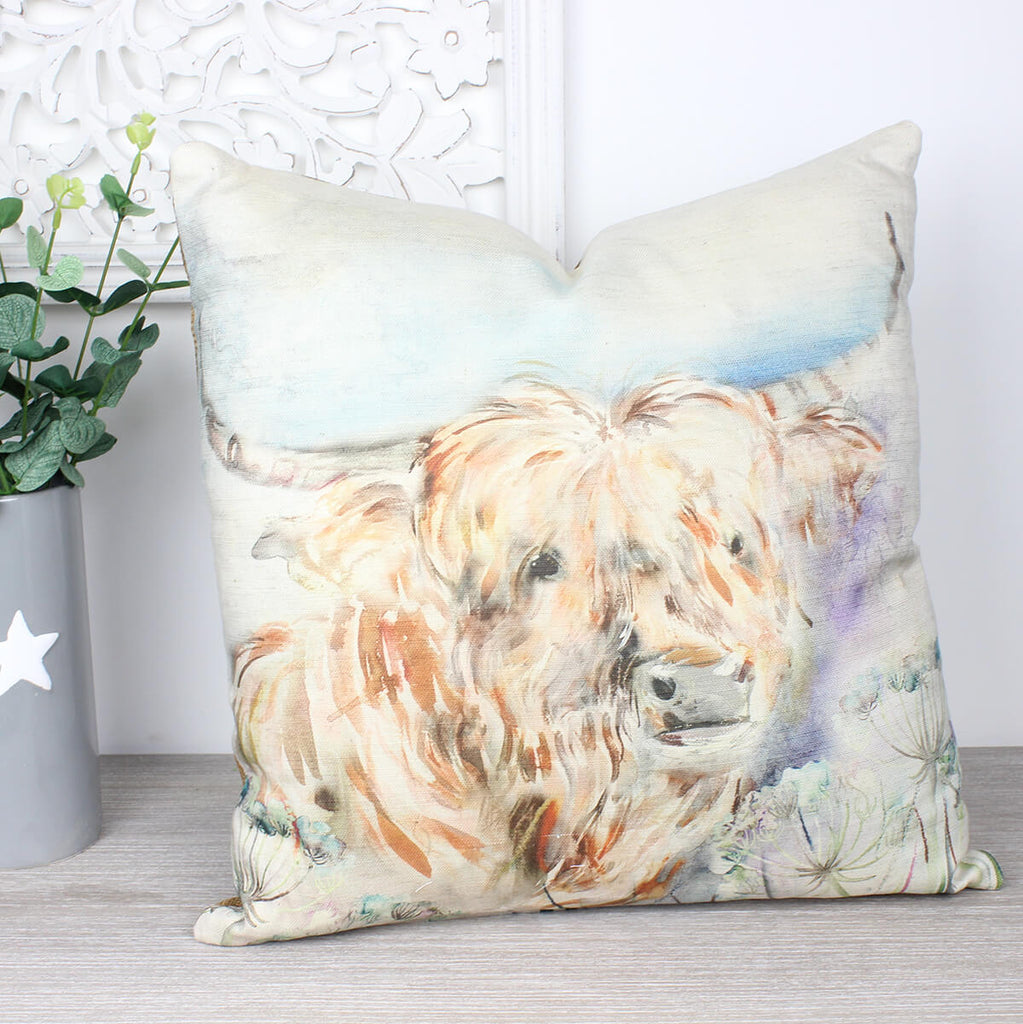 Kyloe Highland Cow Cushion Lorient Collection