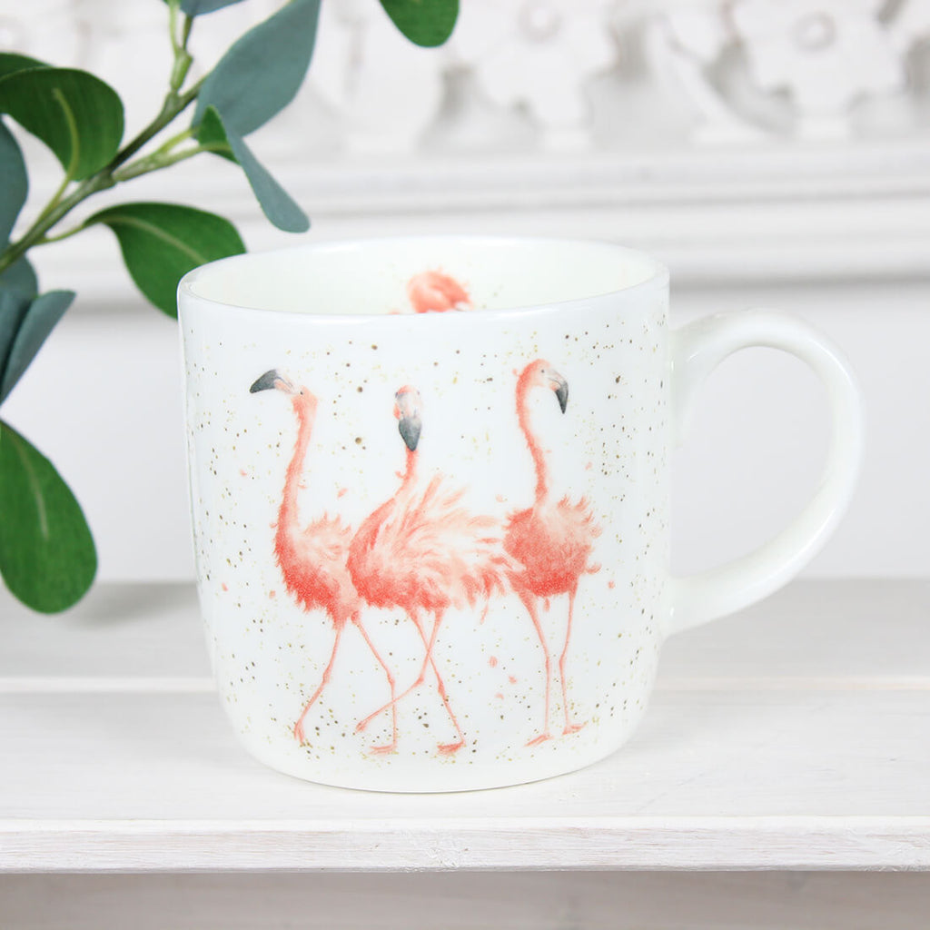 Pink Ladies Flamingo Mug - Wrendale Designs